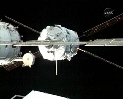 Jules Verne Approaching ISS