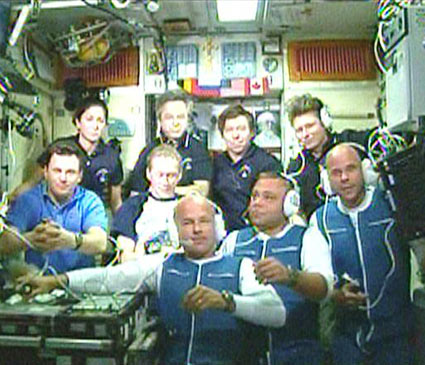 Expedition 20 and 21 Crew members. NASA photo.
