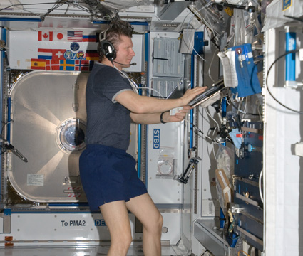 Expedition 20 Commander Gennady Padalka works in the Harmony node of the International Space Station. Credit: NASA