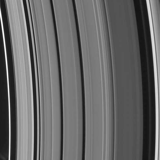 Saturn's Cassini Division, including two newly seen ringlets