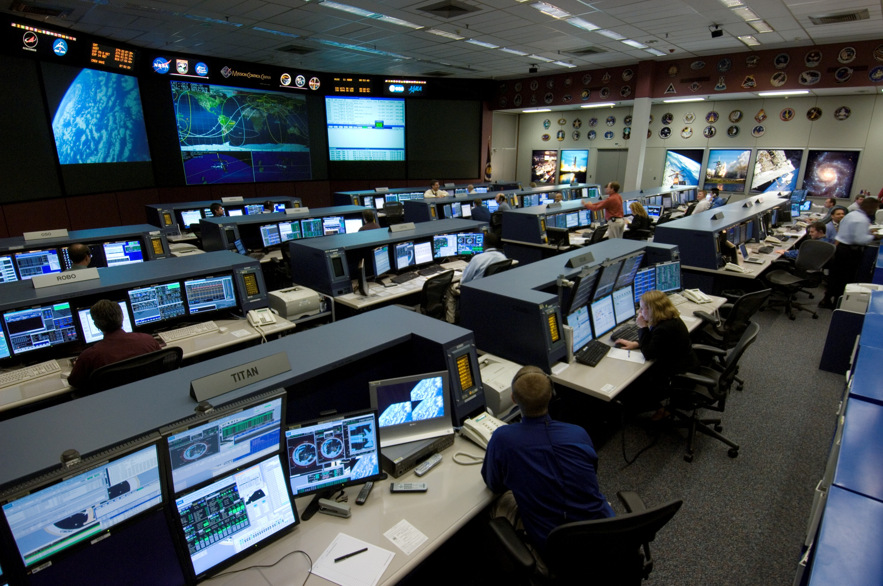 NASA - New Station Flight Control Room