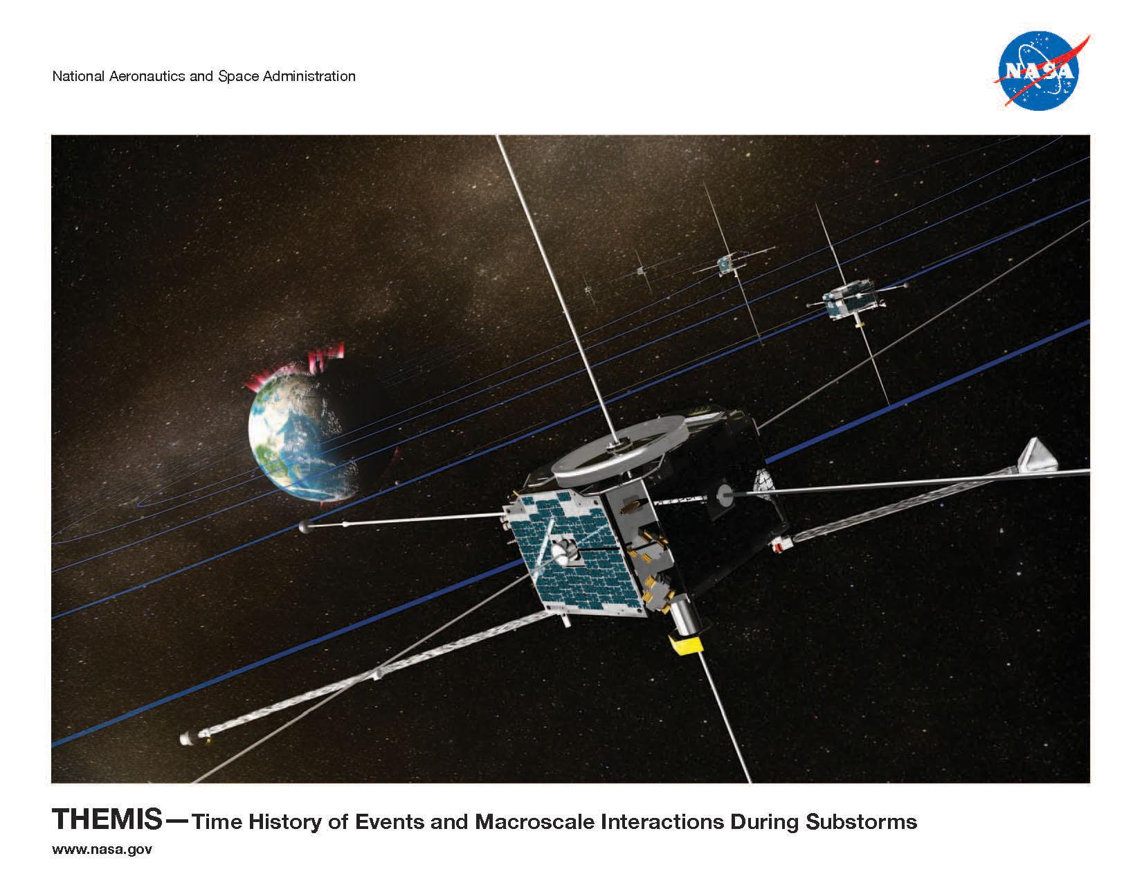 NASA - THEMIS Lithograph
