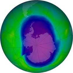 The ozone hole of 2006 is the most severe ozone hole, that is, least amount of ozone, observed to date.