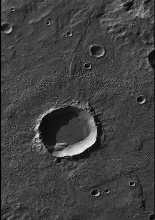 Crater in Terra Sirenum with Gullied Walls