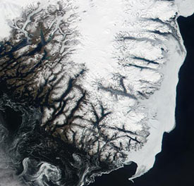 Photo of the southern tip of Greenland.