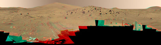 McMurdo Panorama from Spirit in color stereo