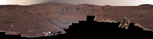 McMurdo Panorama from Spirit in false color