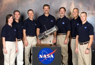 Hubble Servicing Mission 4 Crew. NASA PHOTO NO: JSC2006-E-47144