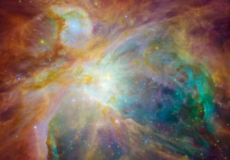 Spitzer/Hubble image of Orion nebula