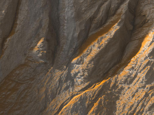 Gullies in Sirenum Terra, Mars