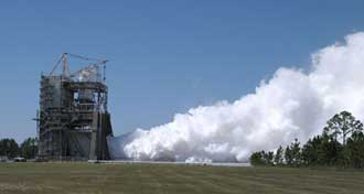 NASA conducted the final space shuttle main engine test on its A-1 Test Stand on Sept. 29, 2006.