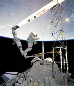 NASA - Space Shuttle Canadarm Robotic Arm Marks 25 Years ...