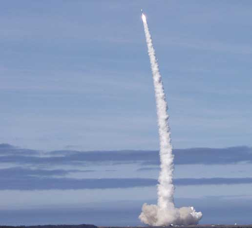 Gravity Probe B spacecraft launches from Vandenberg Air Force Base on April 20, 2004.