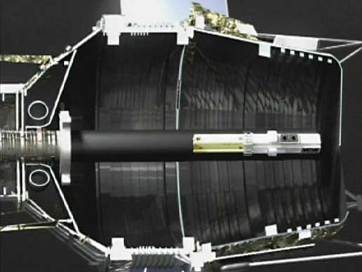 Artist concept of the Gravity Probe B spacecraft