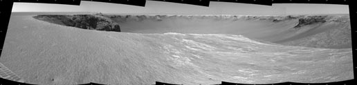 Combined images of rover's surroundings