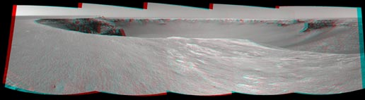 Stereo view of rover's surroundings