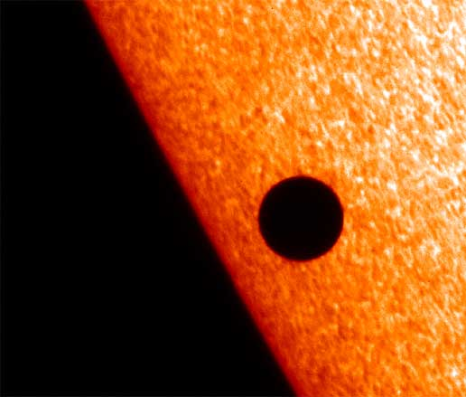 Hinode Solar Optical Telescope image of Mercury passing in front of the sun