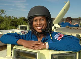 Astronaut Joan Higginbotham finishes M-113 training.