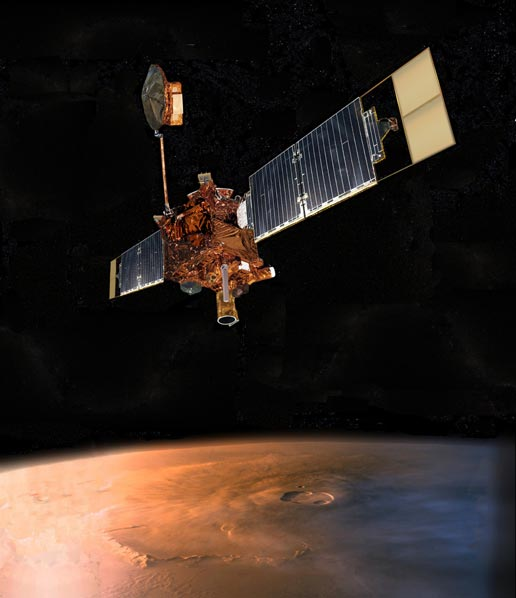 artist's concept of Mars Global Surveyor