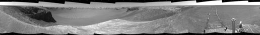 combined stereo view of the rover's surroundings