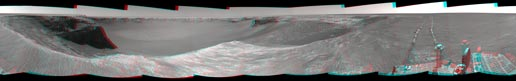 stereo view of the rover's surroundings