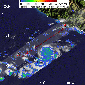 TRMM image of Hurricane Sergio