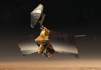 Ilustración artística del Mars Reconnaissance Orbiter