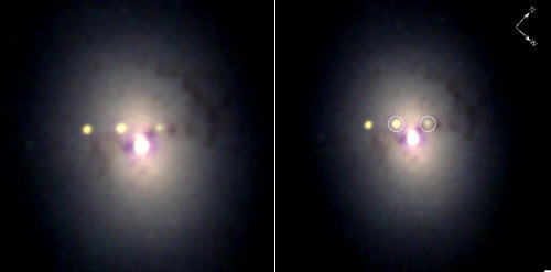 Side by side twin supernovas as seen by Swift