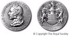 Copley medal. Courtesy Royal Society