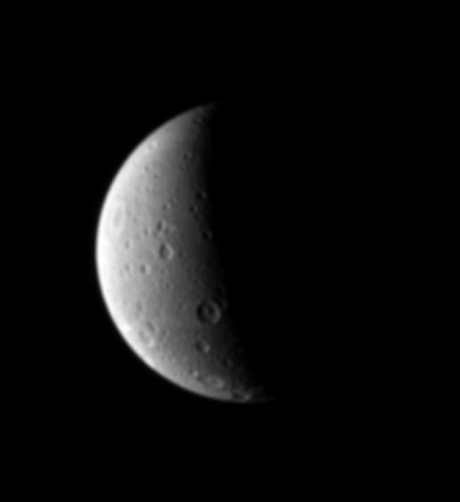 North on Dione