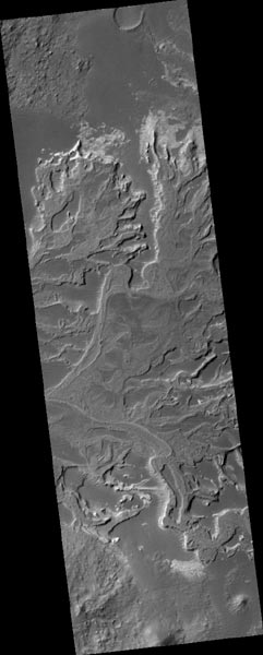 Channels in a fossilized delta