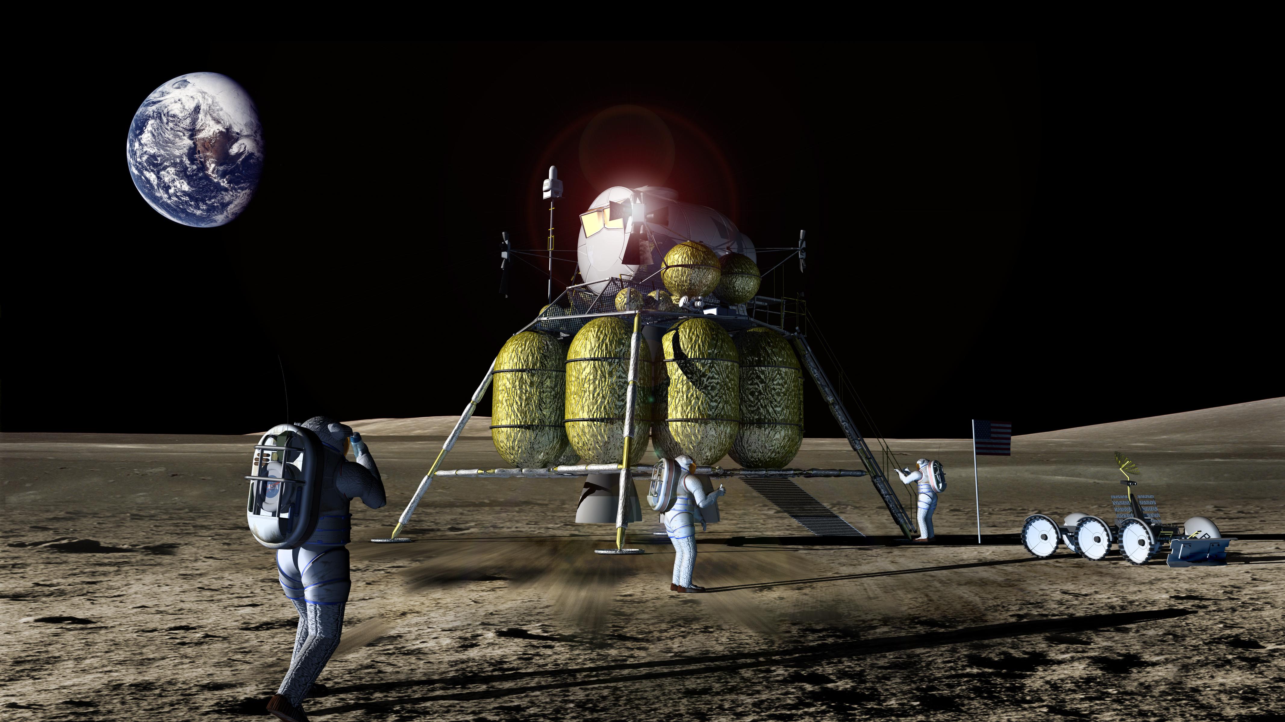 nasa astronauts on the moon - photo #24