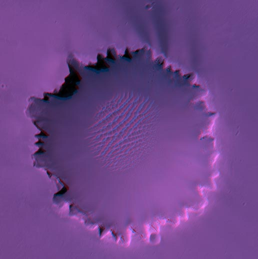Stereo View of Victoria crater