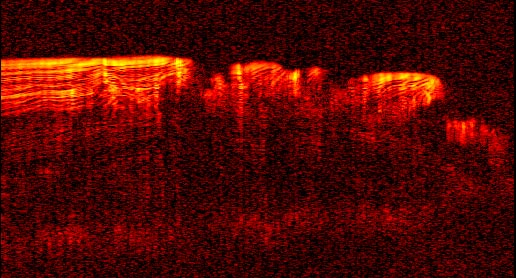 Radar View of Layering near Mars' North Pole
