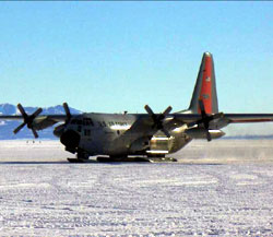 C-130 Cargo plane at McMurdo's William Field