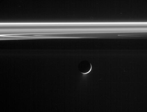 Image of Enceladus taken in visible light with the Cassini spacecraft