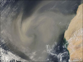 Image of an African dust storm