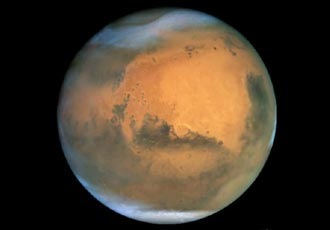 Mars, seen by Hubble Space Telescope
