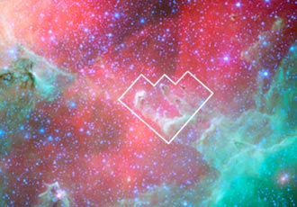 infrared view of Eagle Nebula