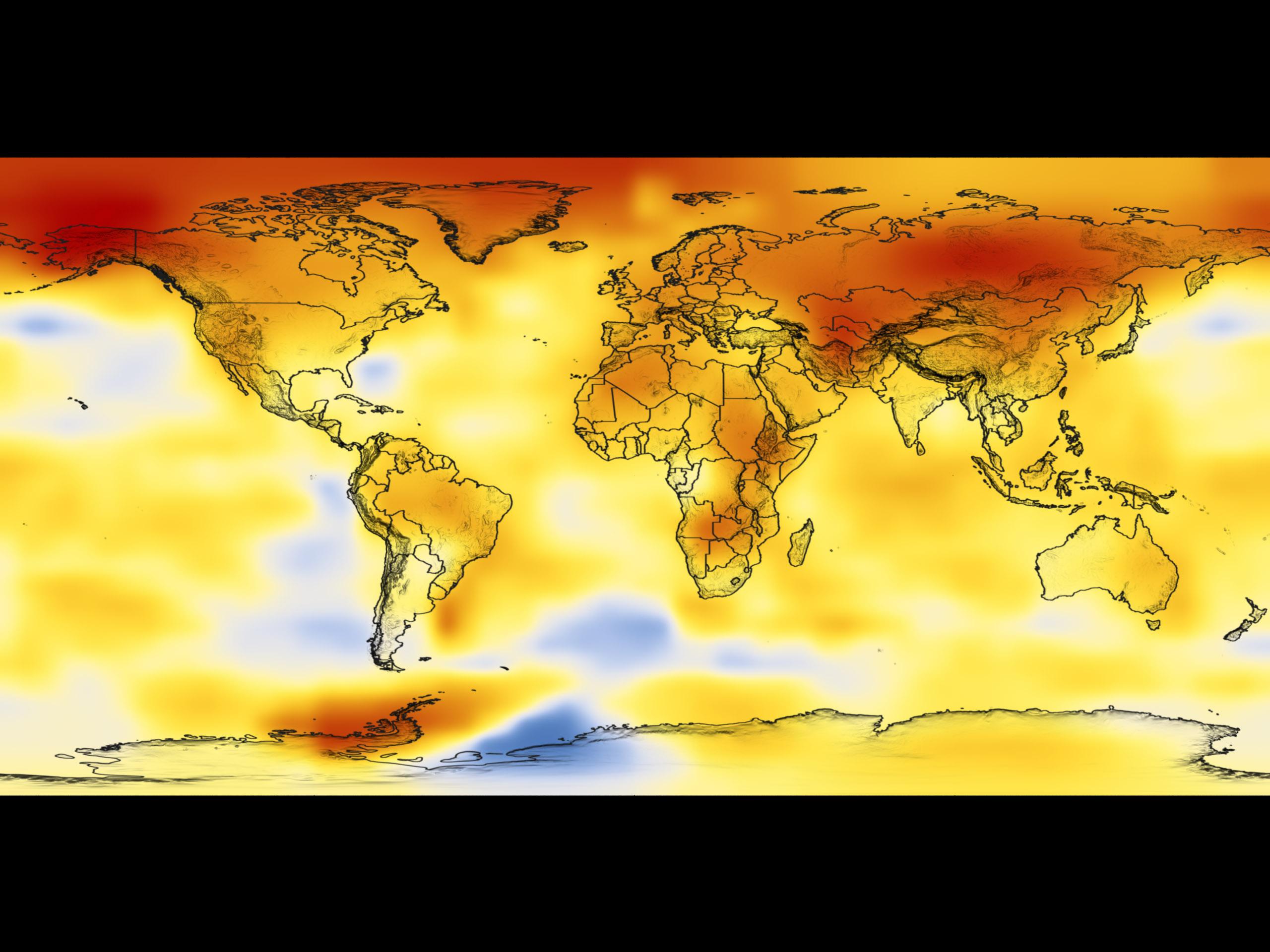 nasa page regarding world warming