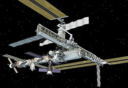JSC2007-E-02931 Artist's rendering of the ISS following scheduled activities of Jan. 16, 2007.
