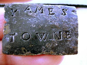 The Jamestown cargo tag artifact