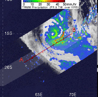 TRMM image of Tropical Cyclone Dora