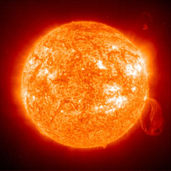 This image of the sun was taken by NASA's Solar and Heliospheric Observatory in 2001.
