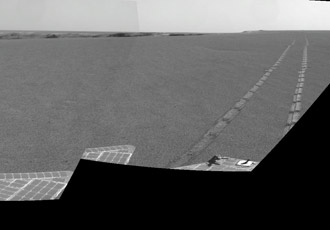 Opportunity's view of its tracks