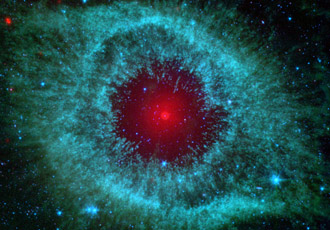 infrared view of Helix nebula