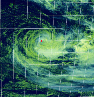Satellite image of Tropical Cyclone Dora on 2