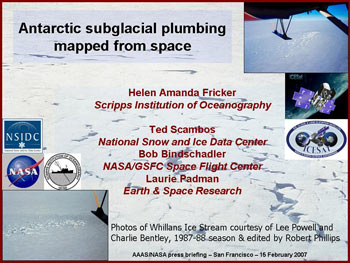 Slide for Antarctic Plumbing media teleconference