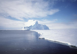 Antarctic ice sheet in West Antarctica.