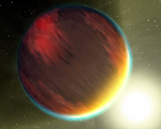artist concept of spectrum of planet